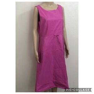 🆕 🌻 14T J.Crew 100% Silk Taffeta A Line Dress